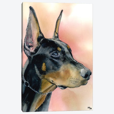 The Doberman 3-Piece Canvas #JDI152} by Judith Stein Canvas Art Print