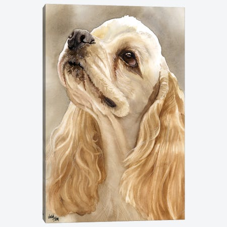 Waggin' Tail - Buff Cocker Spaniel 3-Piece Canvas #JDI163} by Judith Stein Canvas Wall Art