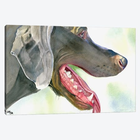 Weim and Dine - Weimaraner Canvas Print #JDI164} by Judith Stein Canvas Art Print
