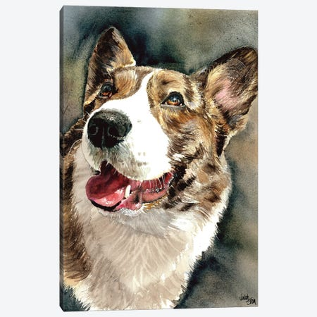 Welsh Corgi - Rhys 3-Piece Canvas #JDI165} by Judith Stein Canvas Print