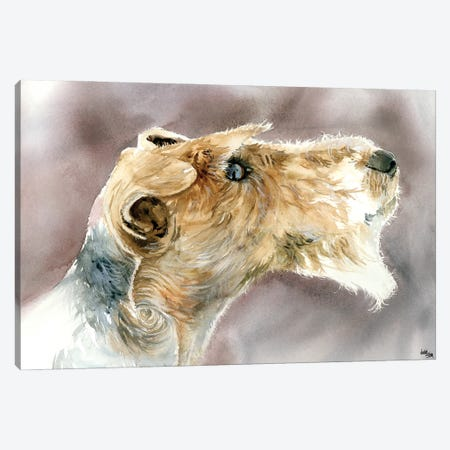 Wire Haired Fox Terrier Canvas Print #JDI169} by Judith Stein Canvas Art