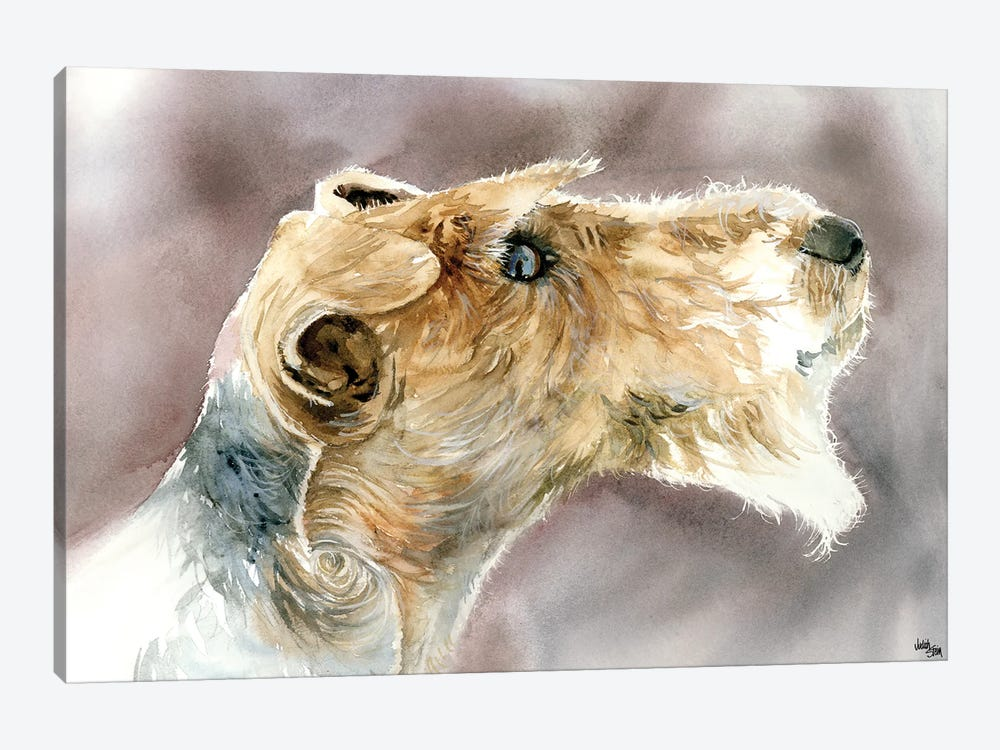Wire Haired Fox Terrier by Judith Stein 1-piece Canvas Wall Art