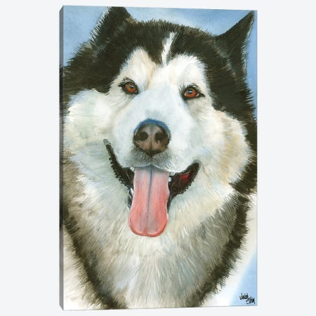 Wolf Dog - Alaskan Malamute Canvas Print #JDI170} by Judith Stein Canvas Art Print