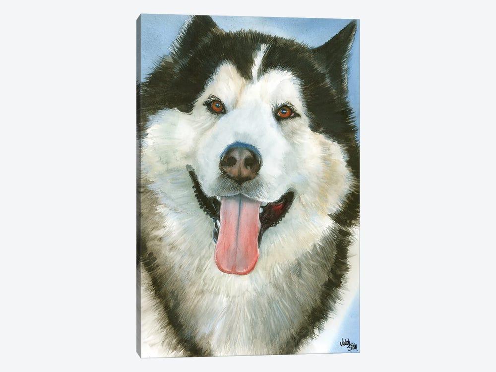 Wolf Dog - Alaskan Malamute by Judith Stein 1-piece Canvas Art