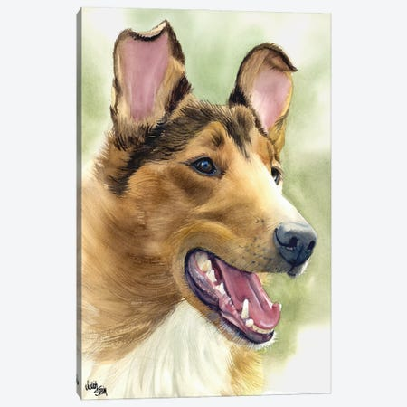 Woof to Watch - Smooth Coat Collie Canvas Print #JDI171} by Judith Stein Art Print