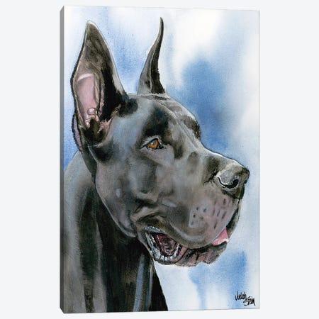 Big Danish - Black Great Dane Canvas Print #JDI18} by Judith Stein Canvas Art Print