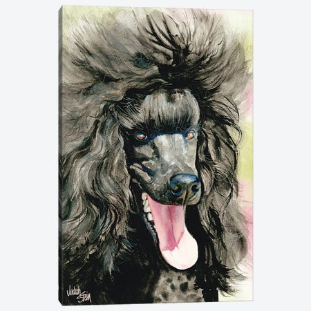 Black Magic - Black Poodle Canvas Print #JDI22} by Judith Stein Canvas Art