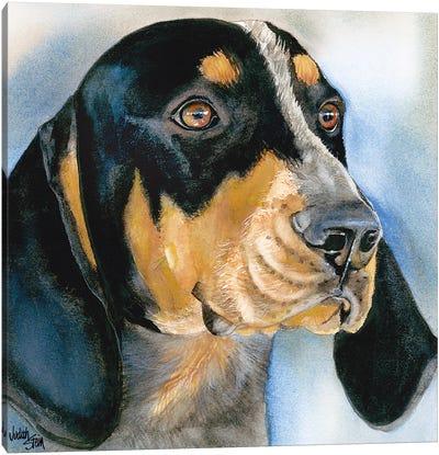 Blue Boy - Bluetick Coonhound Canvas Art Print