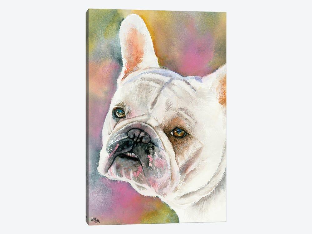 Bouledogue Francais - Cream French Bulldog by Judith Stein 1-piece Art Print