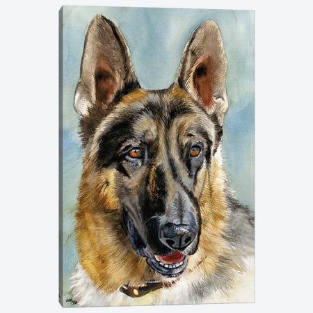 Brains and Brawn - German Shepherd Dog Canvas Print #JDI29} by Judith Stein Canvas Artwork