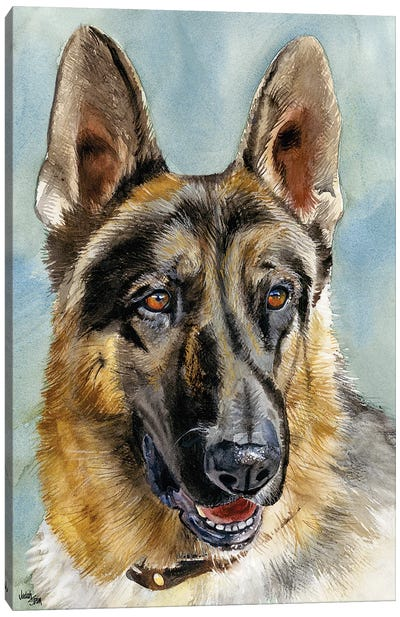 Brains and Brawn - German Shepherd Dog Canvas Art Print