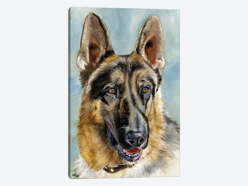 Brains and Brawn - German Shepherd Dog by Judith Stein 1-piece Canvas Wall Art