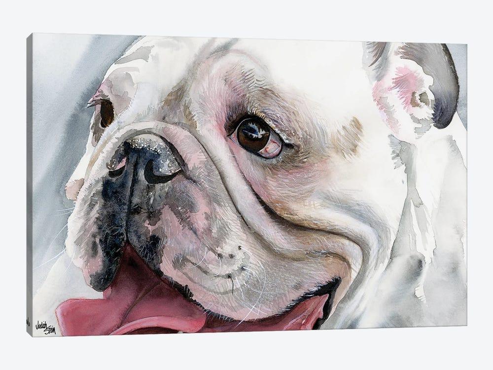 Bull's Eye - English Bulldog by Judith Stein 1-piece Canvas Artwork