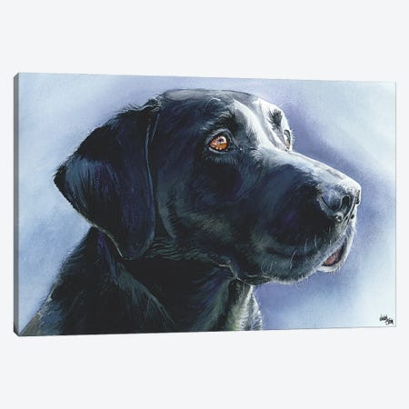 Buster Black Lab Canvas Print #JDI33} by Judith Stein Canvas Art Print