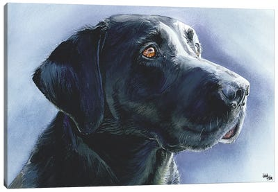 Buster Black Lab Canvas Art Print