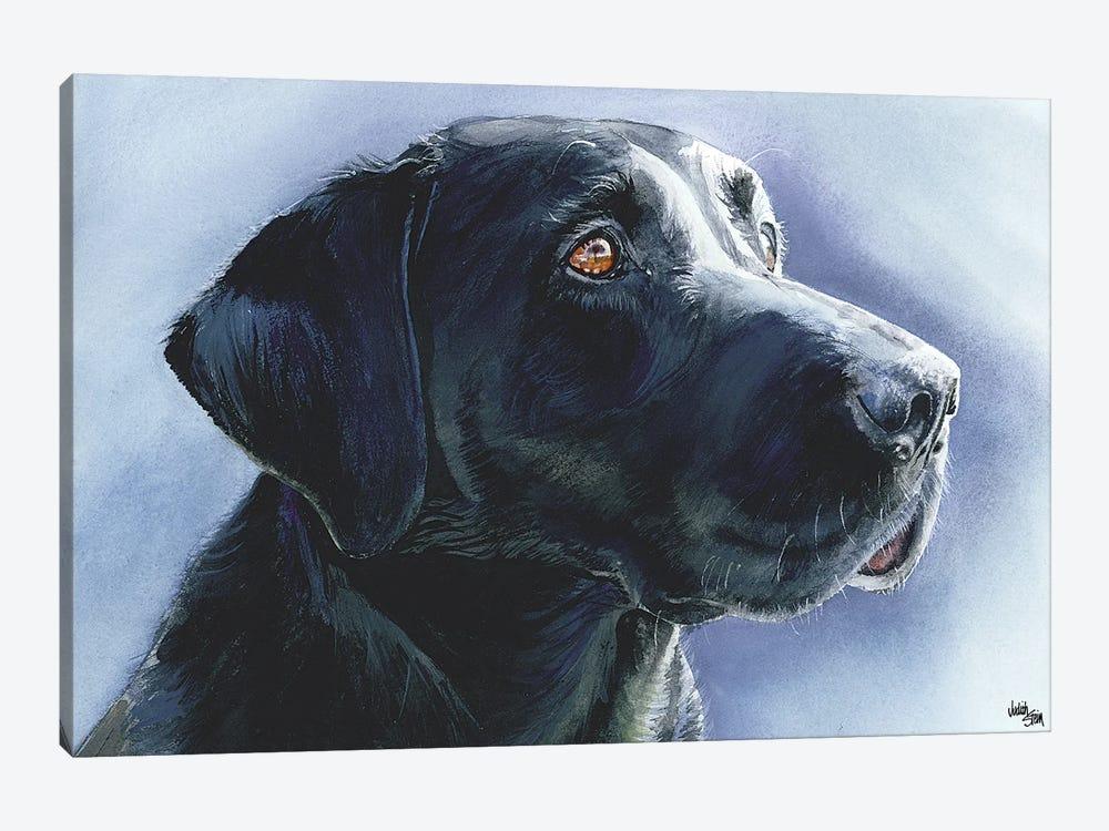 Buster Black Lab by Judith Stein 1-piece Art Print