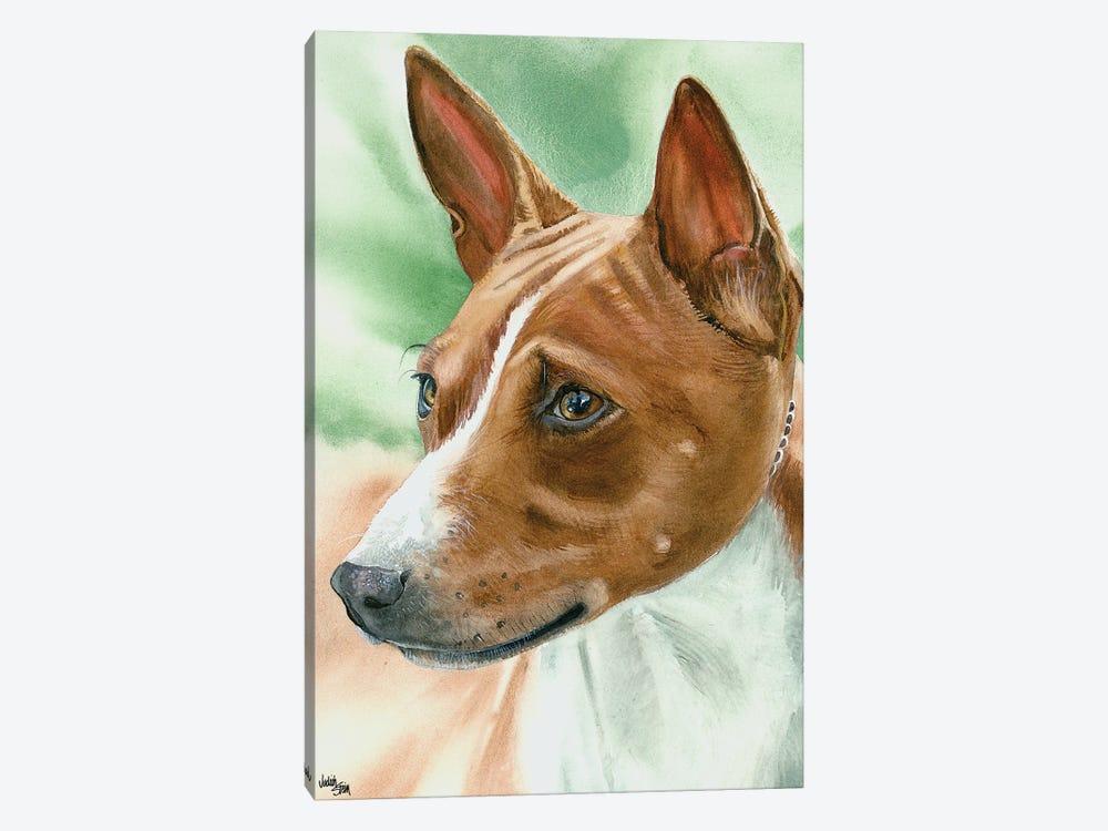 Congo Dog - Basenji by Judith Stein 1-piece Canvas Art Print