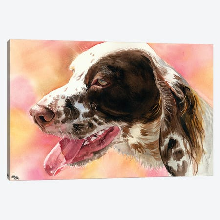 Covey - English Setter Canvas Print #JDI45} by Judith Stein Art Print
