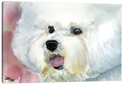 Curly Cue - Bichon Frise' Canvas Art Print