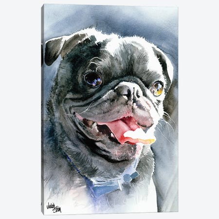 Dog Day Afternoon - Pug Canvas Print #JDI51} by Judith Stein Canvas Art Print