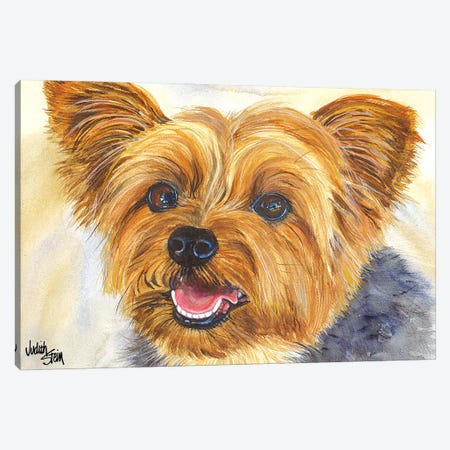 Duke - Blue Yorkshire Terrier Canvas Print #JDI55} by Judith Stein Canvas Art