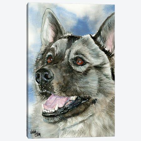 Elkie - Norwegian Elkhound Canvas Print #JDI56} by Judith Stein Canvas Art
