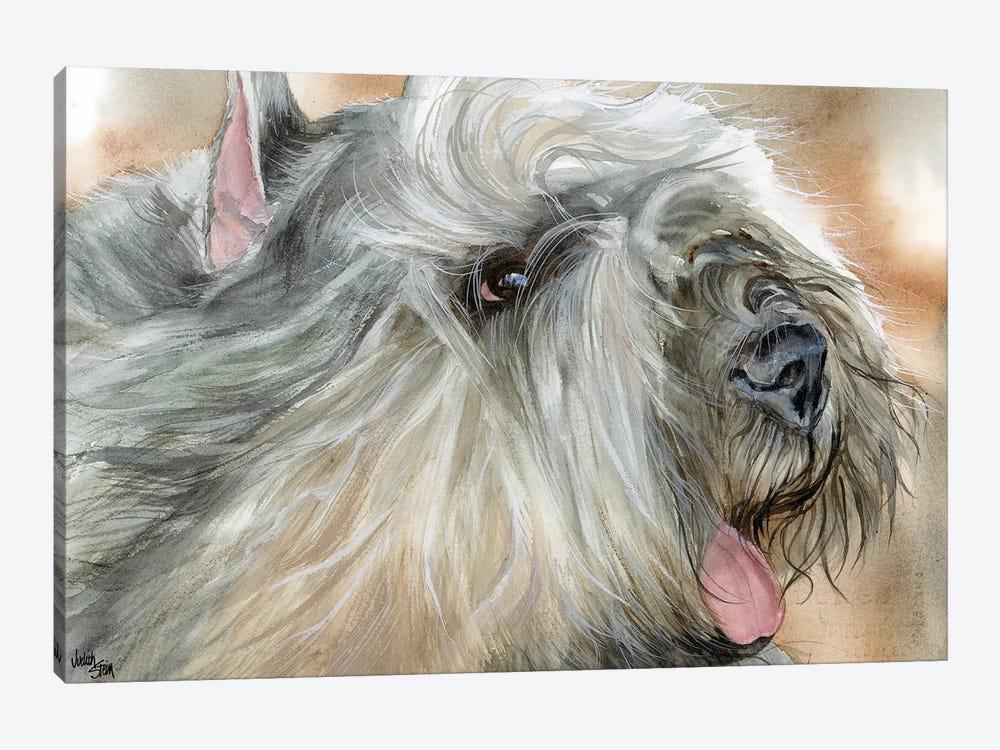 Flanders Cattle Dog - Bouvier des Flandres by Judith Stein 1-piece Canvas Art Print
