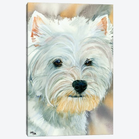 Go Westie - West Highland Terrier Canvas Print #JDI67} by Judith Stein Canvas Art Print