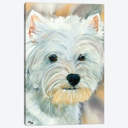 Go Westie - West Highland Terrier Canvas Print #JDI67} by Judith Stein Canvas Art Print