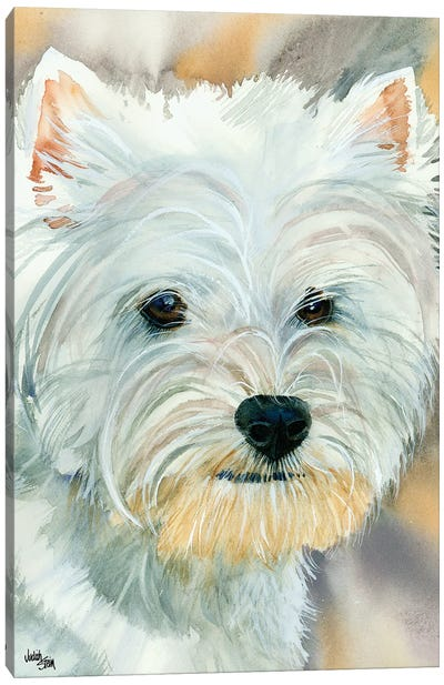 Go Westie - West Highland Terrier Canvas Art Print