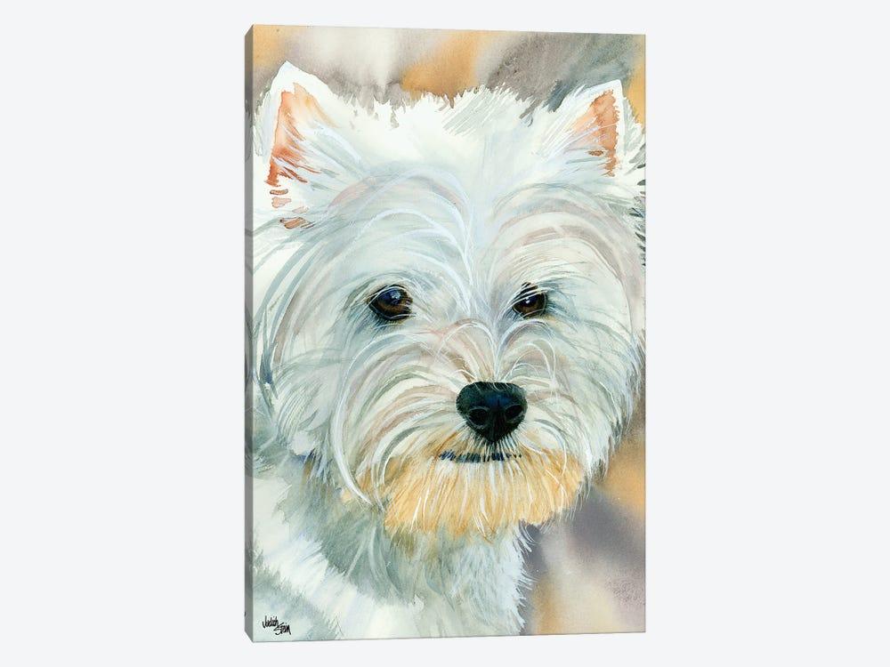Go Westie - West Highland Terrier by Judith Stein 1-piece Canvas Wall Art