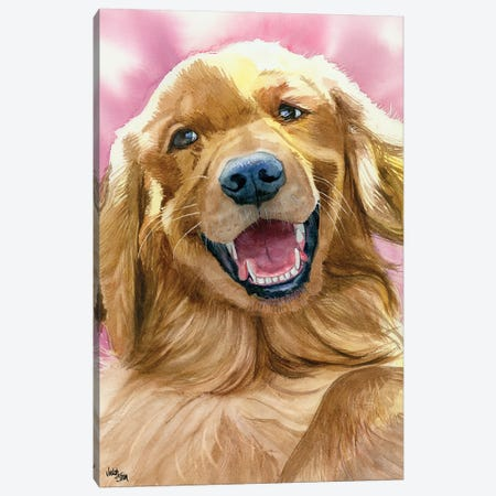 Golden Moment - Golden Retriever Canvas Print #JDI68} by Judith Stein Canvas Art