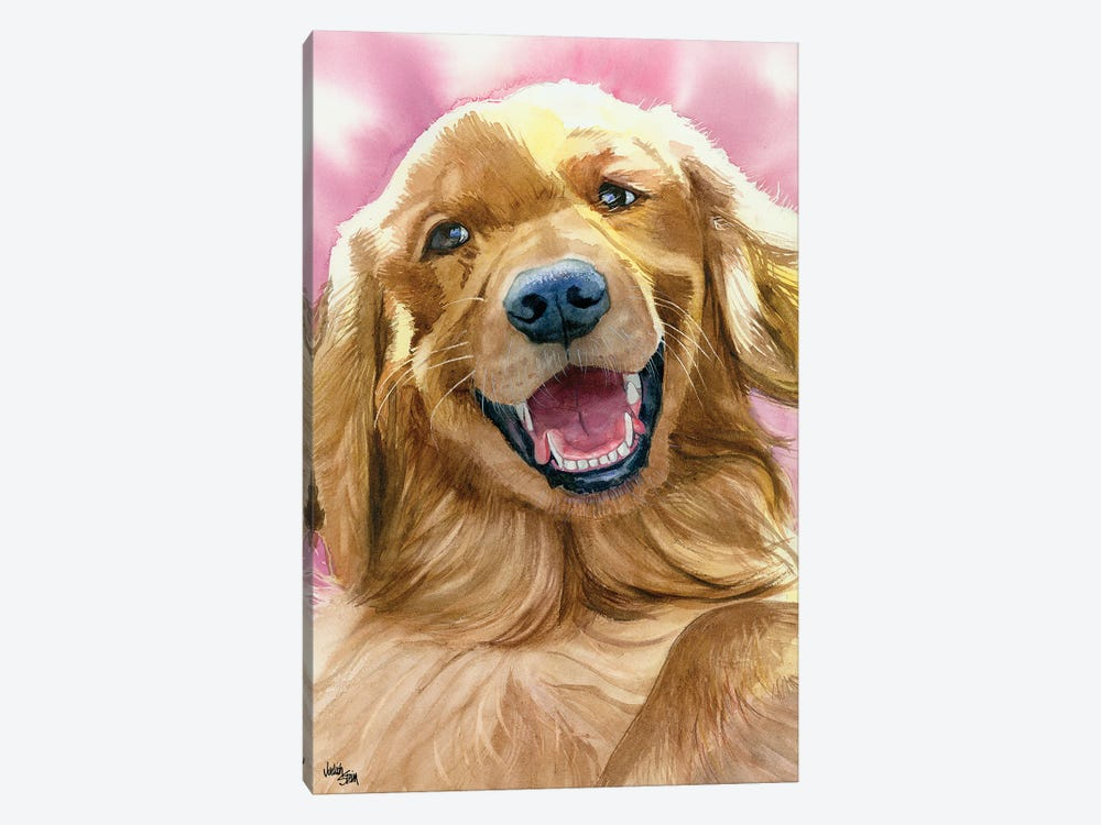 Golden Moment - Golden Retriever by Judith Stein 1-piece Canvas Print