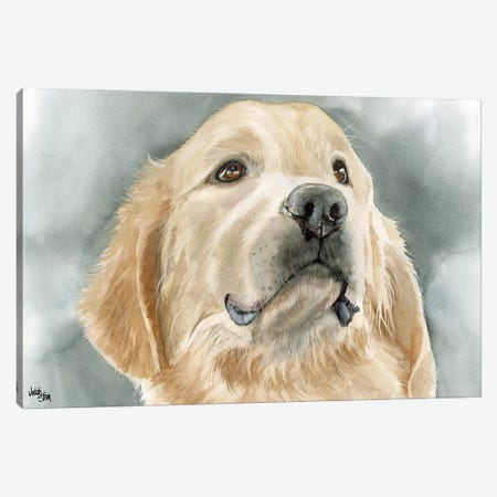 Golden Opportunity - Golden Retriever Canvas Print #JDI69} by Judith Stein Canvas Artwork