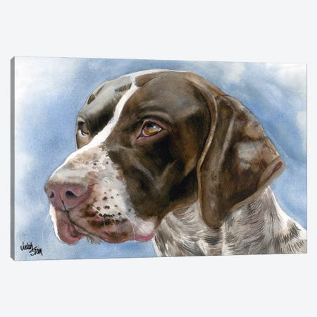 GSP - German Short Haired Pointer Canvas Print #JDI73} by Judith Stein Canvas Print