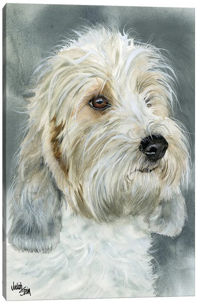 Happy Go Lucky - Petit Basset Griffon Vendéen Canvas Art Print