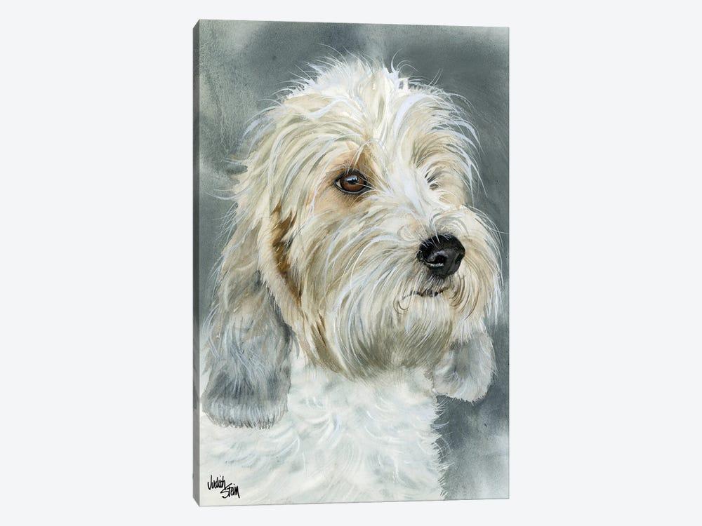 Happy Go Lucky - Petit Basset Griffon Vendéen by Judith Stein 1-piece Canvas Print