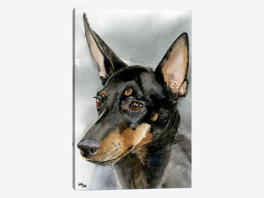 High Spirits - Toy Manchester Terrier by Judith Stein 1-piece Canvas Art