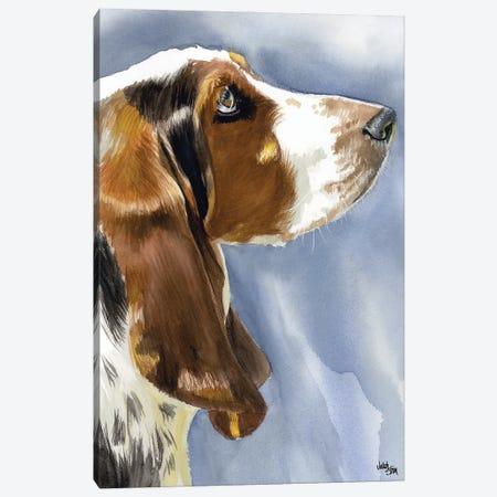 Hush Puppy Dog - Basset Hound Canvas Print #JDI82} by Judith Stein Canvas Artwork