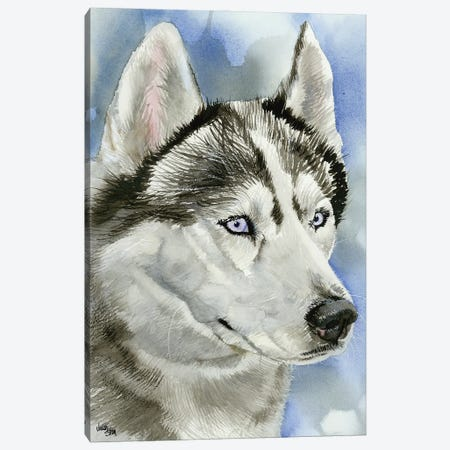 Ice Blue - Siberian Husky Dog 3-Piece Canvas #JDI84} by Judith Stein Canvas Art Print