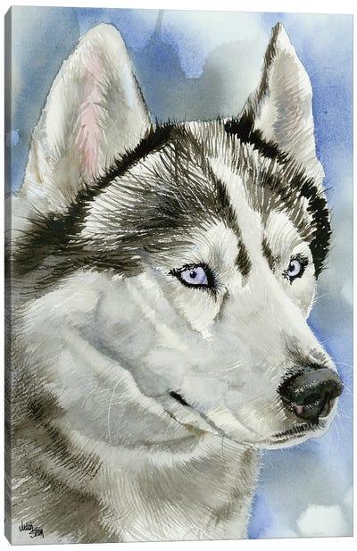 Ice Blue - Siberian Husky Dog Canvas Art Print