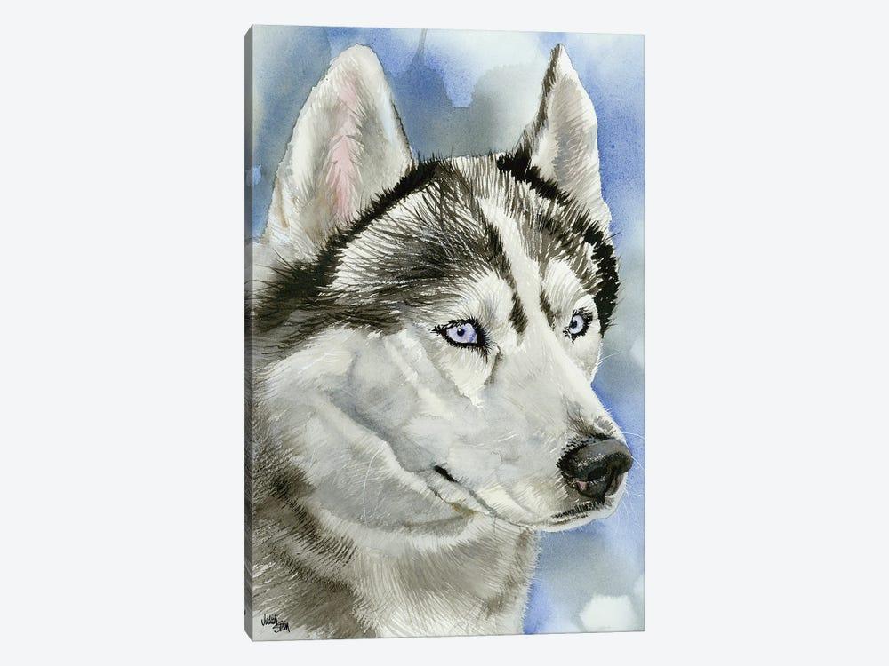 Ice Blue - Siberian Husky Dog by Judith Stein 1-piece Art Print