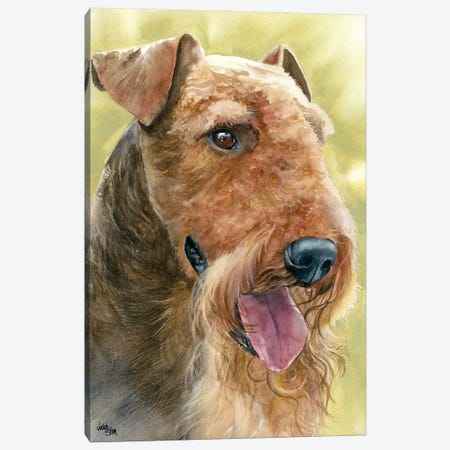 King of Terriers - Airedale Terrier Canvas Print #JDI92} by Judith Stein Art Print