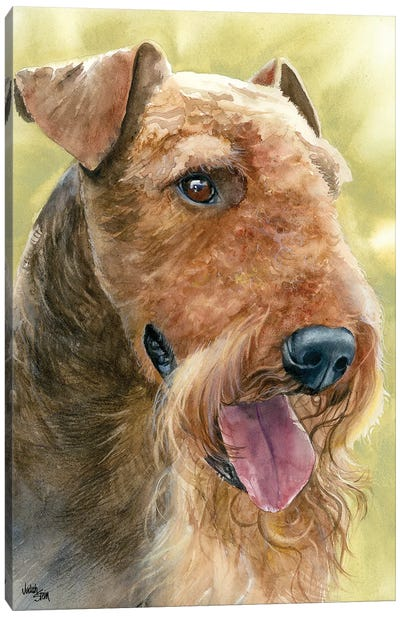 King of Terriers - Airedale Terrier Canvas Art Print