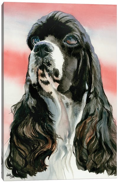 Life of the Party - Cocker Spaniel Parti colored Canvas Art Print