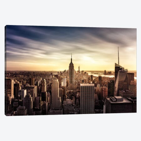 Long Sunset Canvas Print #JDL10} by Javier de la Torre Canvas Wall Art