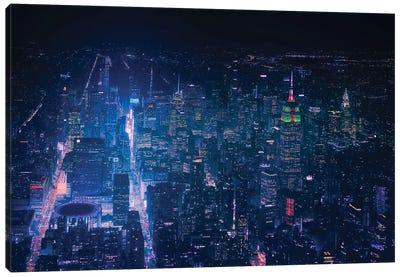 Nyc Neon Noir Canvas Art Print