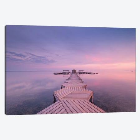 The Pier Canvas Print #JDL13} by Javier de la Torre Canvas Wall Art