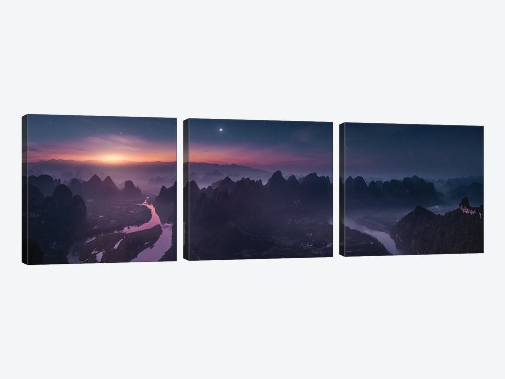 Damian Shan 3-piece Canvas Print