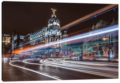 Madrid Traffic Canvas Art Print